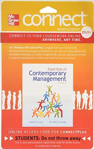 9780077439415: Connect 1-Semester Access Card for Essentials of Contemporary Management
