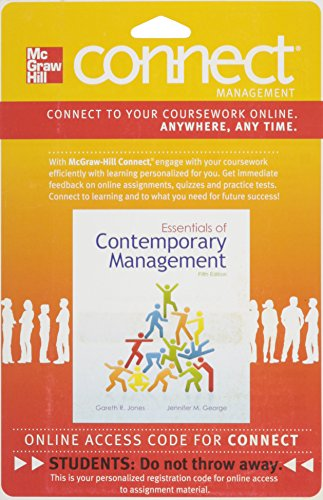 9780077439453: Connect Management with LearnSmart 1 Semester Access Card for Essentials of Contemporary Management