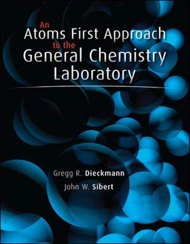 9780077439682: An Atoms First Approach to General Chemistry Laboratory Manual