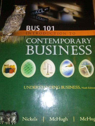 9780077439903: BUS 101 Introduction to Contemporary Business