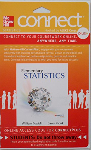 9780077440695: Connect Statistics hosted by ALEKS Access Card for Elementary Statistics