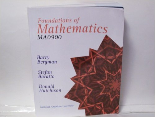 9780077440909: Foundations of Mathematics (MA 0900 National American University)