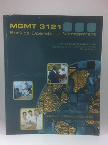 Service Operations Management, By Metters, Richard & Stevenson, William J.