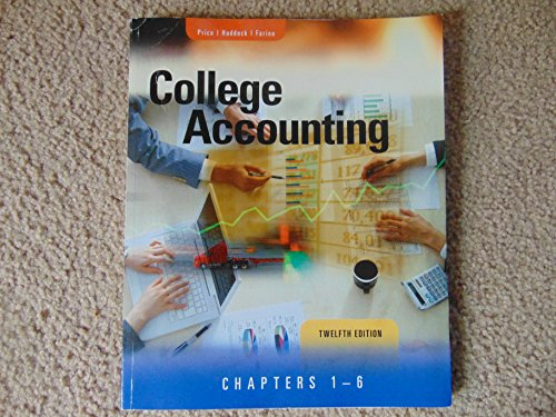 9780077441913: College Accounting, 12th Edition Chapters 1-6 Price/Haddock/Farina