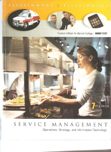 9780077443306: Service Management: Operations, Strategy, and Information Technology. Custom Edition for Baruch College