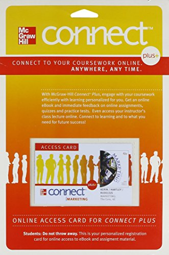 9780077446185: Connect Marketing Plus Access Card for Marketing: The Core