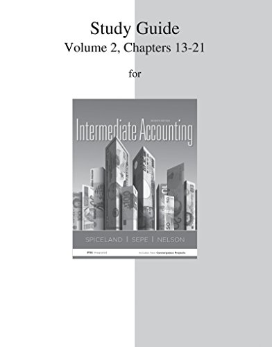 9780077446444: Study Guide Volume 2 for Intermediate Accounting