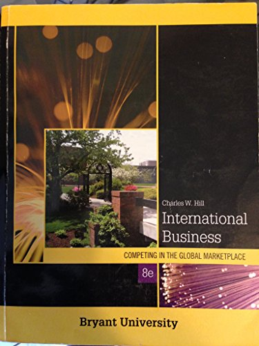 9780077447748: International Business Competing in the Global Marketplace (Bryant University)
