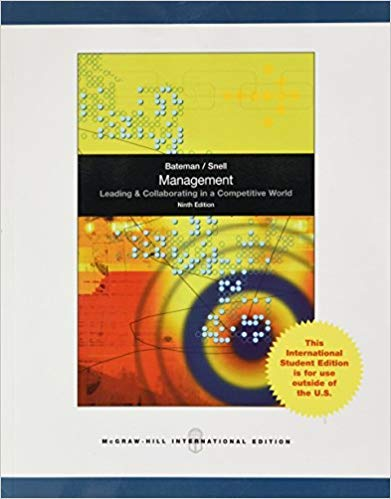 9780077447960: Management Leading & Collaborating in a Competitive World 9th Edition