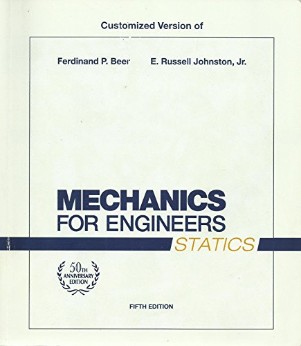 9780077450090: Customized Version of Mechanics for Engineers Statics