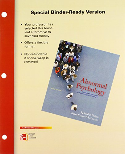 9780077452087: Abnormal Psychology: Clinical Perspectives on Psychological Disorders