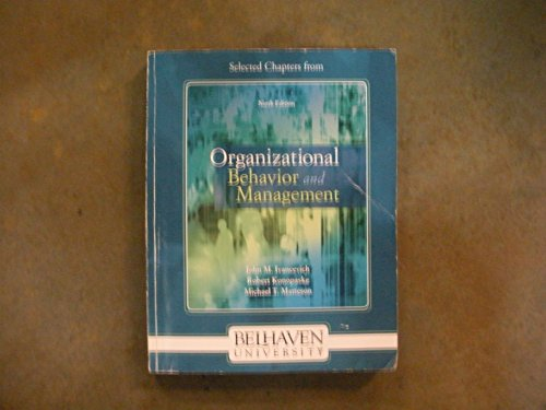 9780077452438: Selected Chapters from Organizational Behavior and Management 9th Edition Custom Edition for Belhaven University
