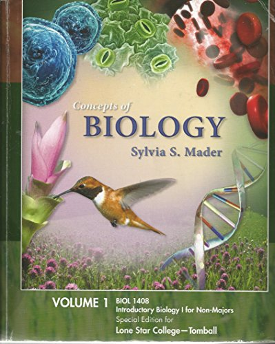 9780077452520: Lab Manual For Concepts Of Biology Sylvia S. Mader Volume I BIOL 1408 Special Ed. Lone Star College Tomball