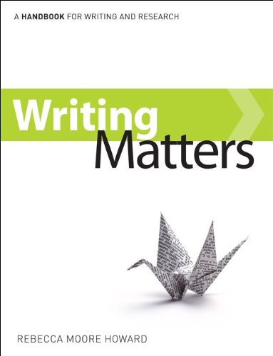 9780077453275: Writing Matters: A Handbook for Writing and Research