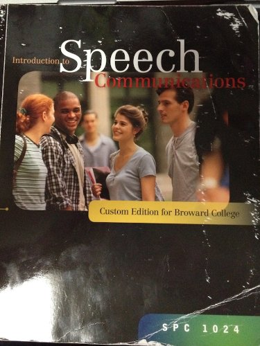 9780077453282: Introduction to Speech Communications (Broward College) (SPC 1024)