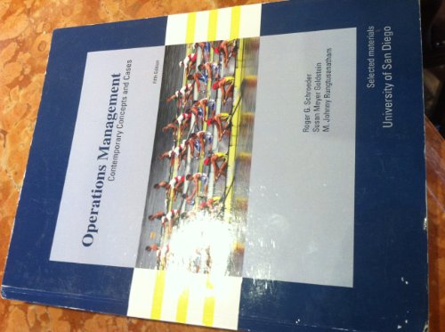 9780077455378: Operations Management Contemporary Concepts and Cases- Selected Material for University of SAN Diego