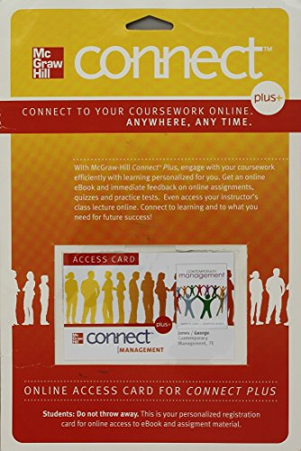 9780077457174: Connect Plus Access Card w/ LearnSmart for Contemporary Management
