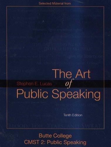 9780077457518: The Art of Public Speaking (Butte College CMST 2: Public Speaking)