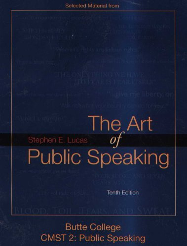 9780077457518: The Art of Public Speaking (Butte College CMST 2: Public Speaking)