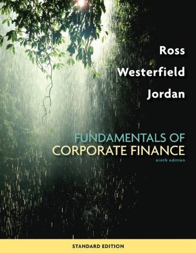 9780077459451: Fundamentals of Corporate Finance Standard Edition 9th Edition by Ross, Stephen; Westerfield, Randolph; Jordan, Bradford D. published by McGraw-Hill/Irwin Hardcover