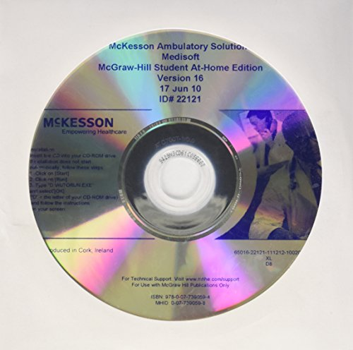 9780077460372: Medisoft v16 Student At Home Software with Installation Instructions