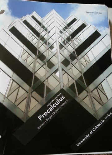 9780077460600: Precalculus (Select Material from Precalculus, University of California, Irvine)