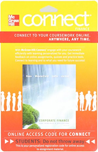 9780077465254: Connect Finance 1 Semester Access Card for Corporate Finance: Core Principles and Applications