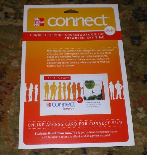 9780077465452: Connect Plus Biology Access Card for Essentials of The Living World