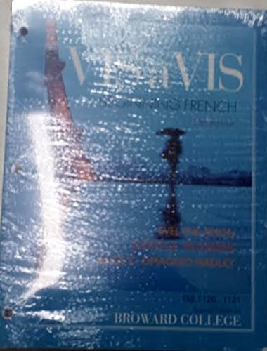 Vis-a-vis Beginning French 5th Edition
