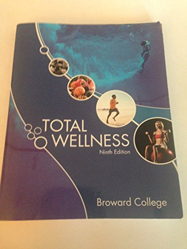 9780077466169: Total Wellness Ninth Edition Broward College Set with Connect Plus