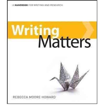 9780077466244: Writing Matters