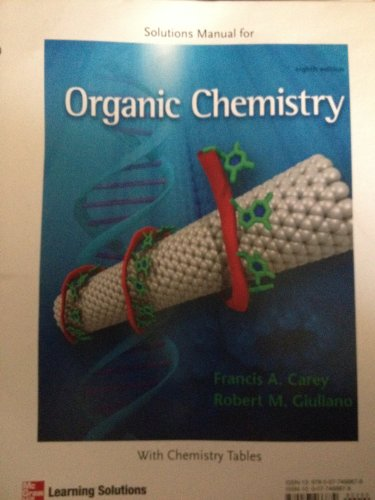 9780077466879: Solutions Manual for Organic Chemistry Eighth Edition Mcgraw Hill [Looseleaf]
