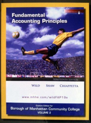 Fundamental Accounting Principles Vol.2 (Chapters 10-22) [Hardcover]