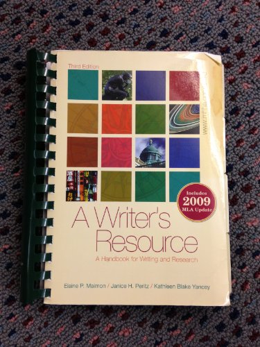 9780077467579: A Writer's Resource: A Handbook for Writing and Research, 3rd Edition (Sacred Heart University)