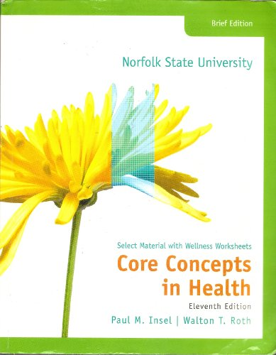 9780077469986: Core Concepts in Health: Select Material with Wellness Worksheets, 11th Edition