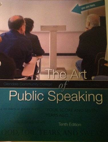 9780077470630: The Art of Public Speaking - Tenth Edition