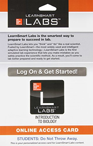 9780077470852: LearnSmart Labs for Introduction to Biology Access Card