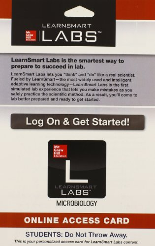 9780077470869: LearnSmart Labs Microbiology Access Card