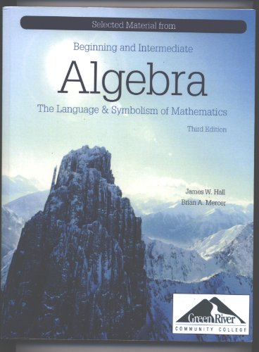 9780077470906: Algebra The Language and Symbolism of Mathematics