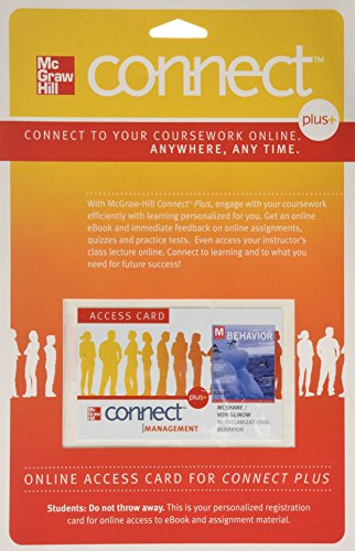 9780077471309: Connect Plus Access Code Card for M: Organizational Behavior