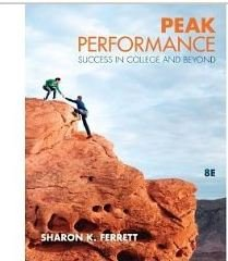 9780077471545: peak performance success in college and beyond annotated instructor's edition 8E