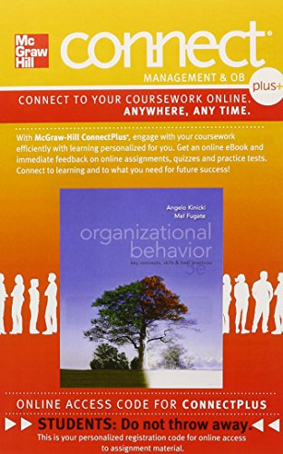 9780077472047: Connect 1-Semester Access Card for Organizational Behavior: Key Concepts, Skills & Best Practices