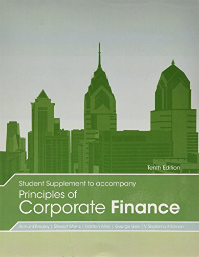 9780077473358: Student Supplement to Accompany Principles of Corporate Finance
