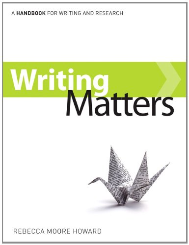 9780077477462: Writing Matters, tabbed (comb-bound)