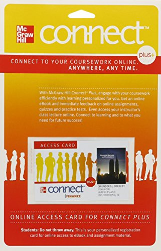 9780077480233: Connect 1-Semester Access Card for Financial Markets and Institutions