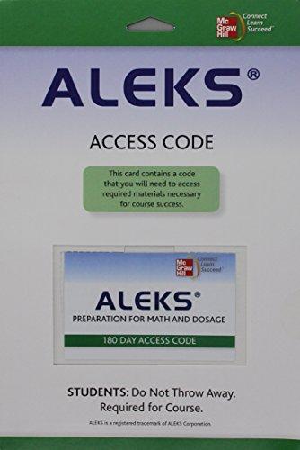 9780077481049: ALEKS:PREP. for MATH+DOSAGE 180-DAY ACCESS