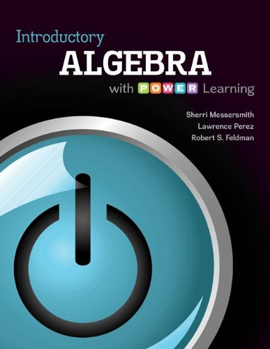 9780077483586: Student Solutions Manual for Introductory Algebra with P.O.W.E.R. Learning