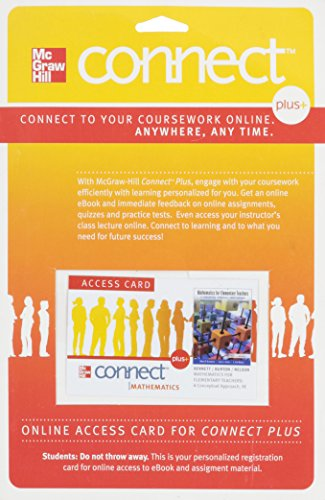 9780077486228: Connect Access Card for Mathematics for Elementary Teachers