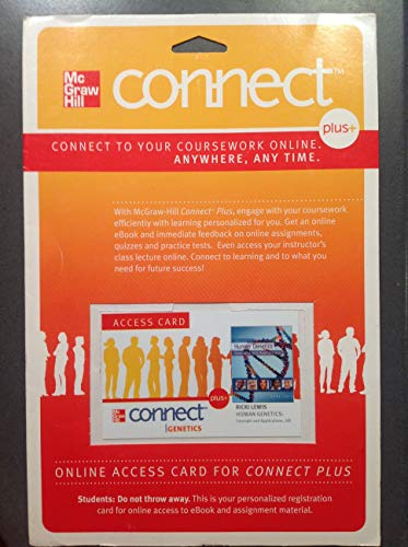 9780077486518: Connect Plus Access Card for Human Genetics