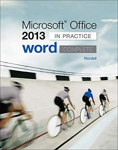 9780077486907: Microsoft Office Word 2013 Complete: In Practice